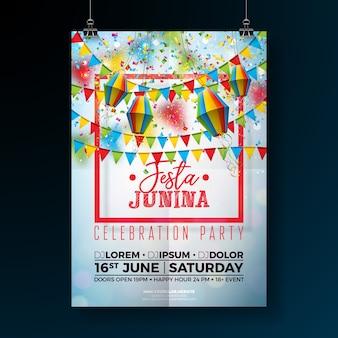 Festa junina party ilustracja ulotki