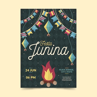 Festa junina plakat szablon projektu