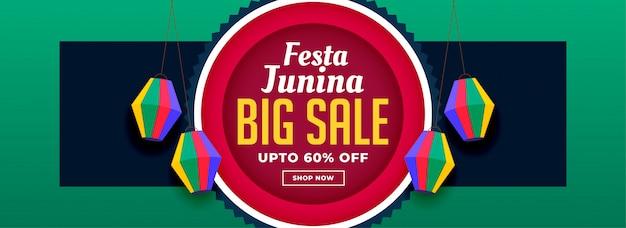 Festa junina sprzedaż banner design
