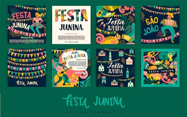Festa junina. szablony wektorowe.