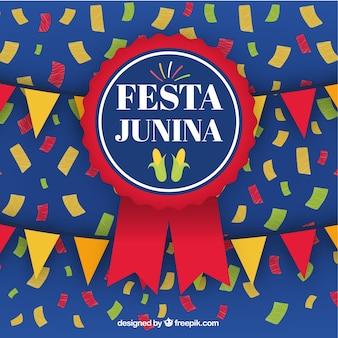 Festa junina tle z odznaką