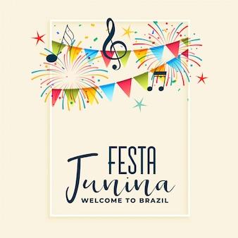 Festa junina tło strony uroczystości