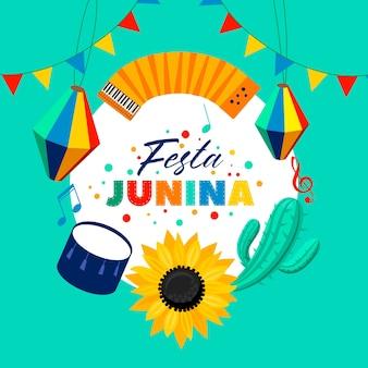 Festa junina w płaskiej konstrukcji