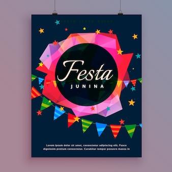 Festina junina celebracji tle szablon ulotki