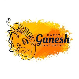 Festiwal akwareli kreatywnych lord ganesha design