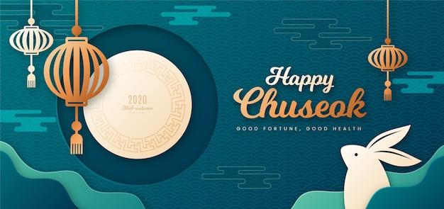 Festiwal chuseok w stylu papierowym