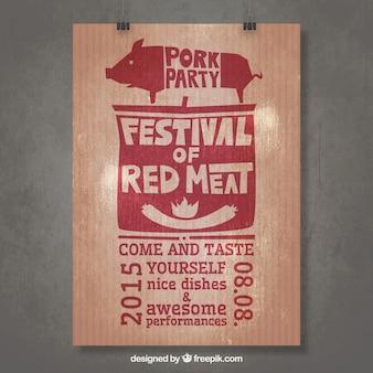 Festiwal czerwonego mear plakat