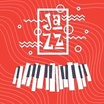 Festiwal jazzowy koncert na żywo plakat reklamowy banner