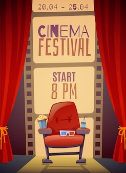 Festiwal kina plakat pionowy