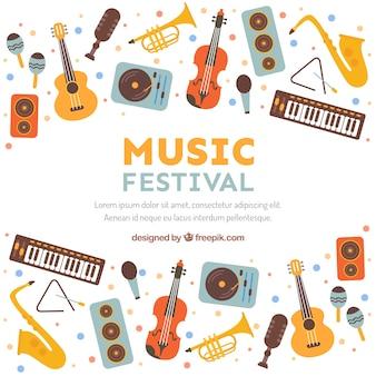 Festiwal muzyki tła w stylu płaski