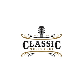 Festiwal muzyki w stylu vintage logo