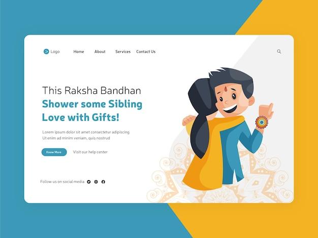 Festiwal raksha bandhan oferuje projekt strony docelowej
