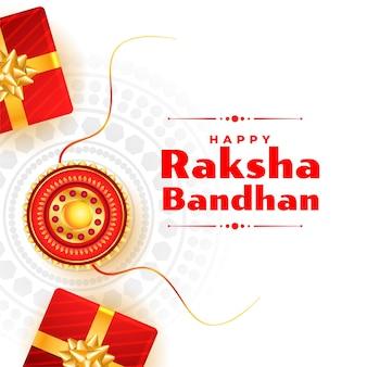 Festiwal raksha bandhan w stylu indyjskim życzy projekt karty