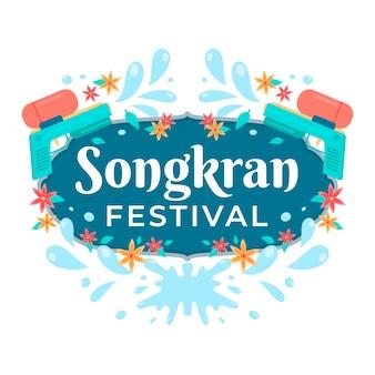 Festiwal songkran płaska konstrukcja