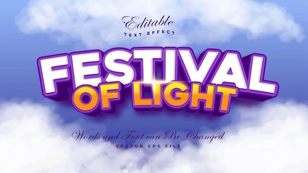 Festiwal światła efekt tekstowy
