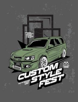Festiwal w stylu niestandardowym, konkurs na modyfikację samochodu