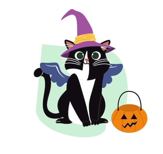 Figlarne słodkie koty płaski zestaw przedmiotów kreskówka puszyste kotki kocięta i tabby siedzące bawiące się leżące