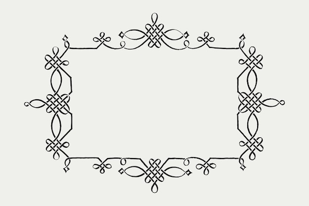 Filigranowa rama w stylu wiktoriańskim