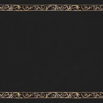 Filigranowa ramka w kolorze złotym
