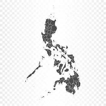 Filipiny na białym tle renderowania mapy