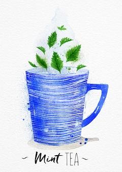 Filiżanka herbaty akwarela