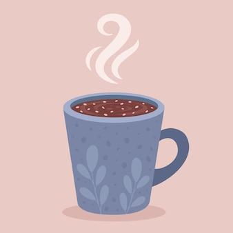 Filiżanka kawy gorąca czekolada kakao gorący napój jesienno-zimowy
