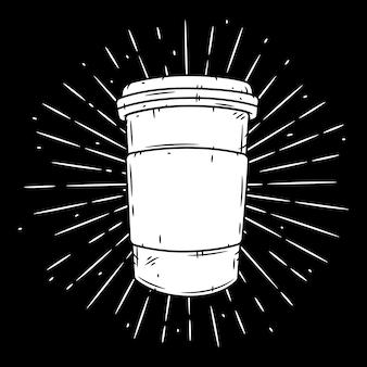 Filiżanka kawy. ręcznie rysowane ilustracja