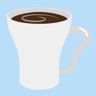 Filiżanka kawy wektor wzór na ilustracyjnym talerzu