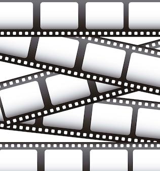 Film filmowy na białym tle ilustracji wektorowych