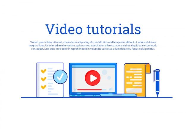 Film instruktażowy. koncepcja edukacja, szkolenie online, studiowanie w internecie