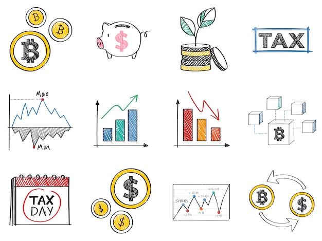 Finanse i ilustracja koncepcja wydajności finansowej