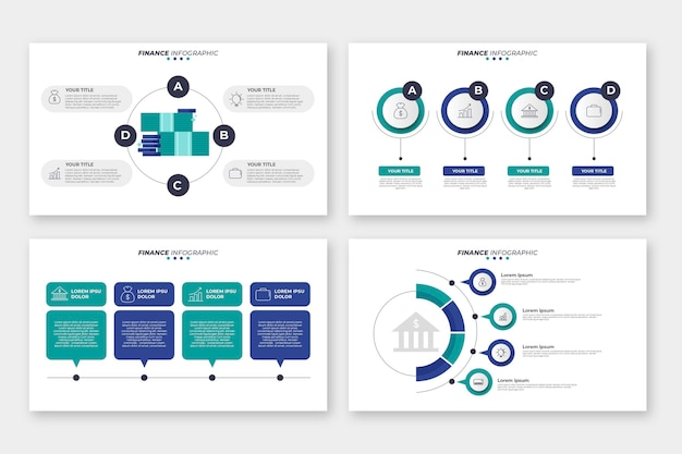 Finanse styl infografikę