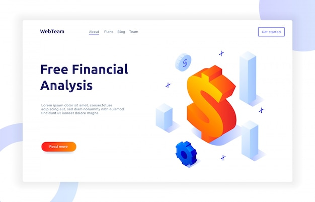 Finansowanie izometryczne i baner marketingowy