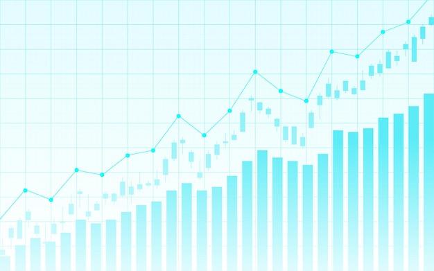 Finansowy wykres giełdowy na giełdzie inwestycyjnej, punkt zwyżkowy, punkt niedźwiedzi. trend wykresu dla pomysłu na biznes i całego projektu artystycznego. ilustracji wektorowych.