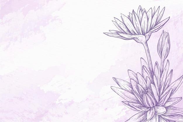 Fiołek w proszku pastelowe ręcznie rysowane tła