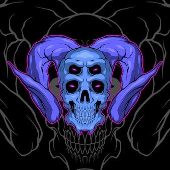 Fioletowa czaszka demona