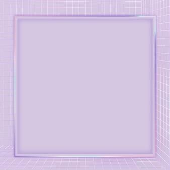 Fioletowa ramka z siatką wektorową 3d