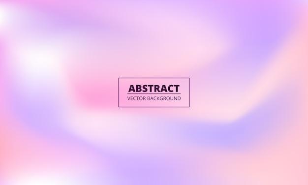 Fioletowe i różowe pastelowe płynne holograficzne kolorowe tło gradientowe.