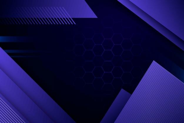 Fioletowe kształty geometryczne o strukturze plastra miodu