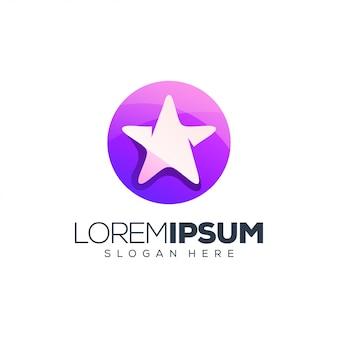 Fioletowe logo star