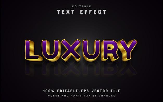 Fioletowe luksusowe efekty tekstowe