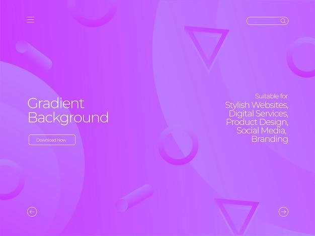 Fioletowe nowoczesne tło gradientowe