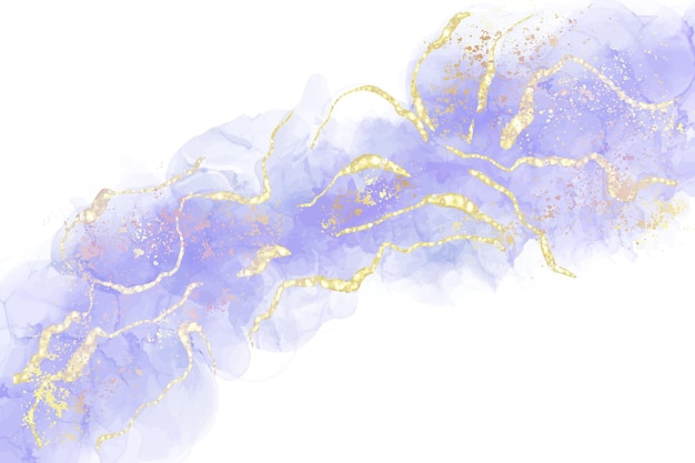 Fioletowe płynne tło akwarela