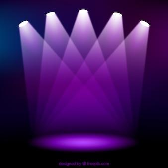 Fioletowe reflektory