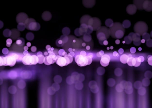 Fioletowe światła bokeh