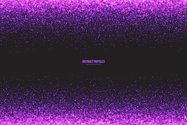 Fioletowe świecące cząsteczki streszczenie tło