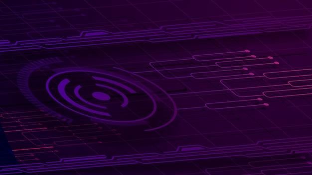 Fioletowe tło cyfrowe dla twojej kreatywności