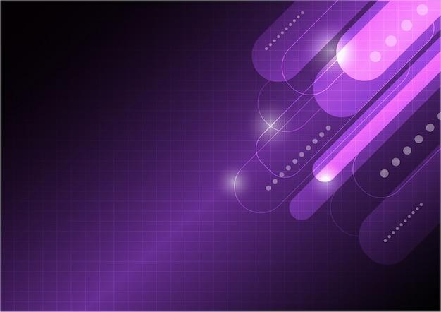 Fioletowe tło geometryczne. elementy dynamicznych kształtów