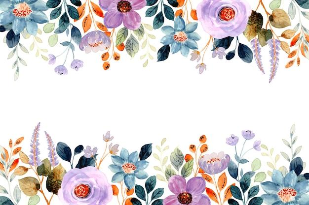 Fioletowe tło kwiatowy z akwarelą
