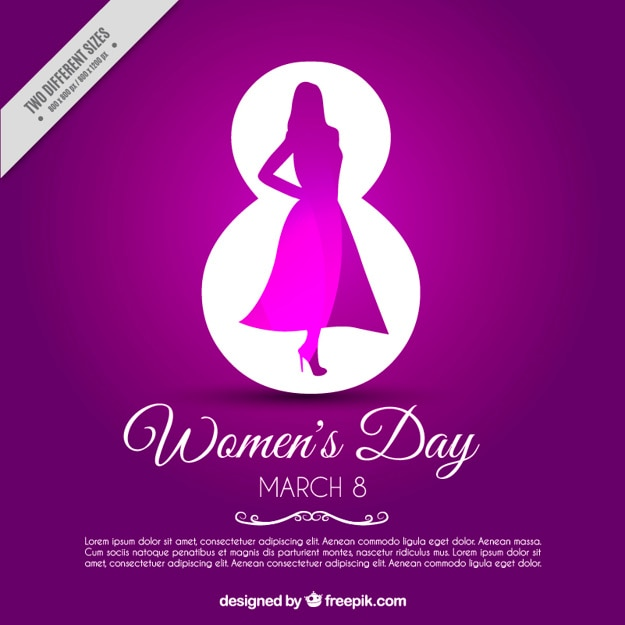 Fioletowe tło na dzień kobiet